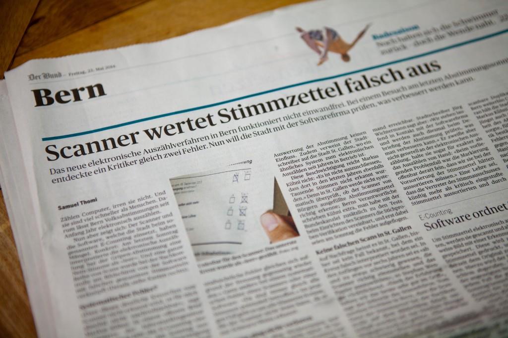 """Der Bund: """"Scanner wertet Stimmzettel falsch aus"""""""