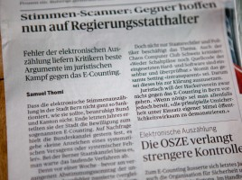 Der Bund - Stimmen-Scanner - Gegner hoffen nun auf Regierungsstatthalter