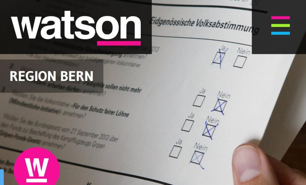 Watson: Abstimmungspanne in Bern: «Es muss von 1000 falschen Stimmen ausgegangen werden»